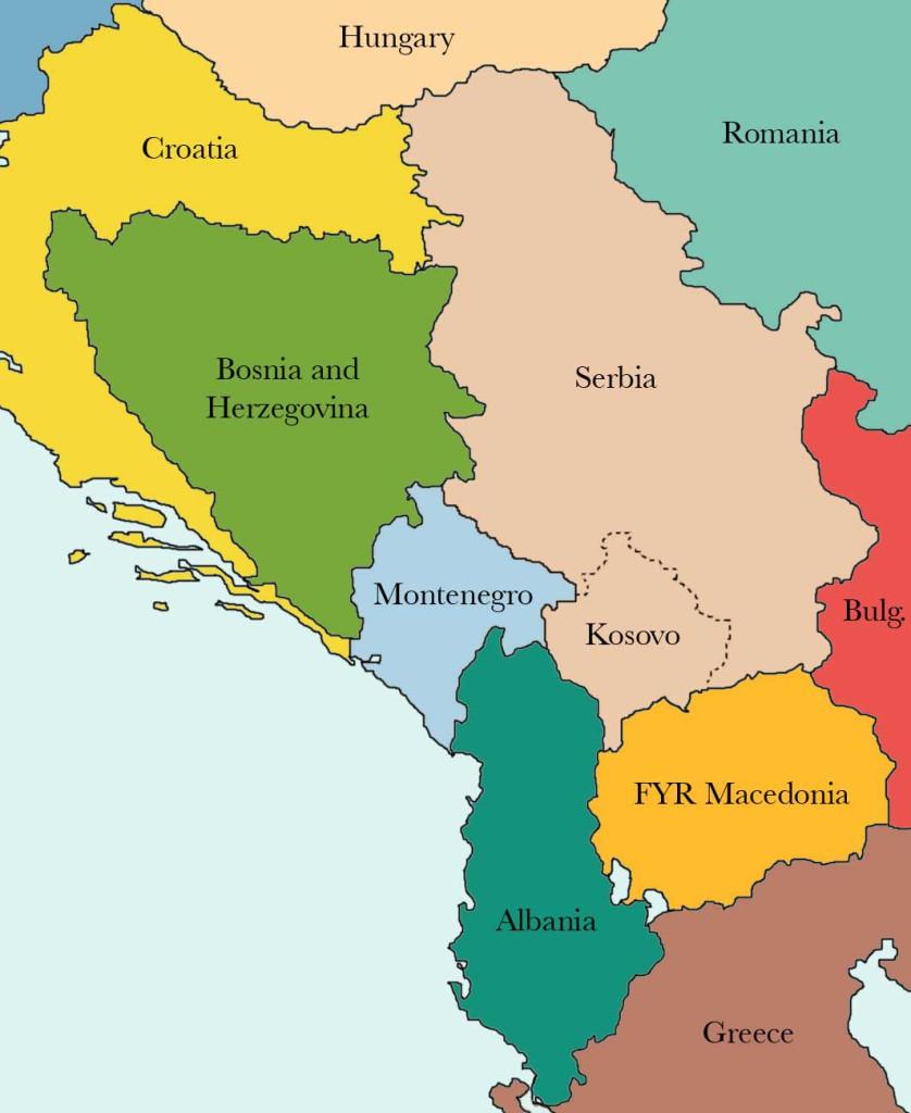 Karte Balkanstaaten